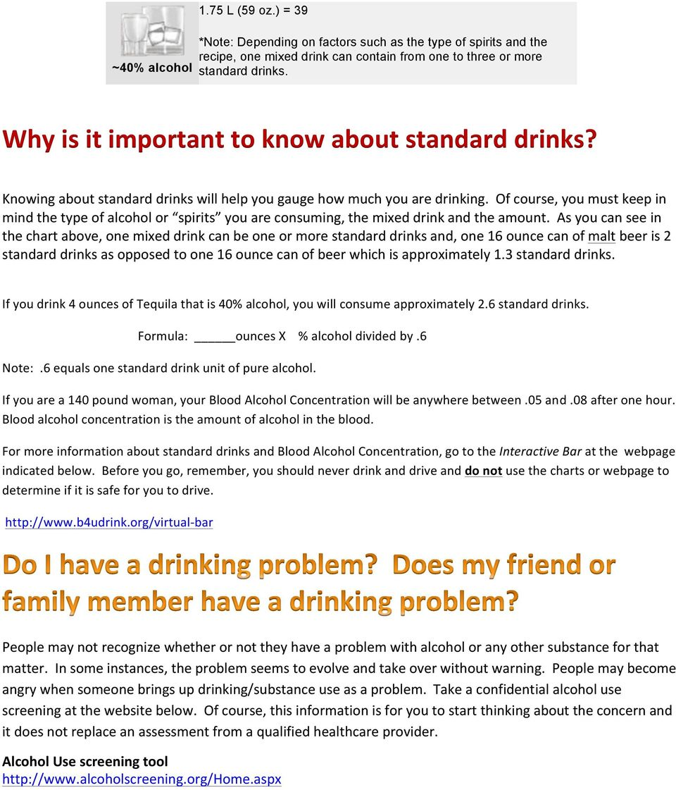 Of course, you must keep in mind the type of alcohol or spirits you are consuming, the mixed drink and the amount.