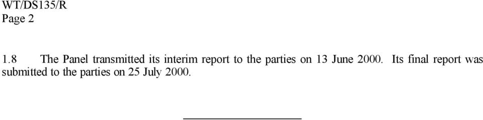 report to the parties on 13 June