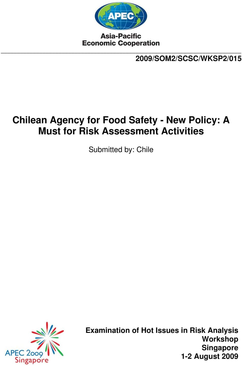 Activities Submitted by: Chile Examination of Hot