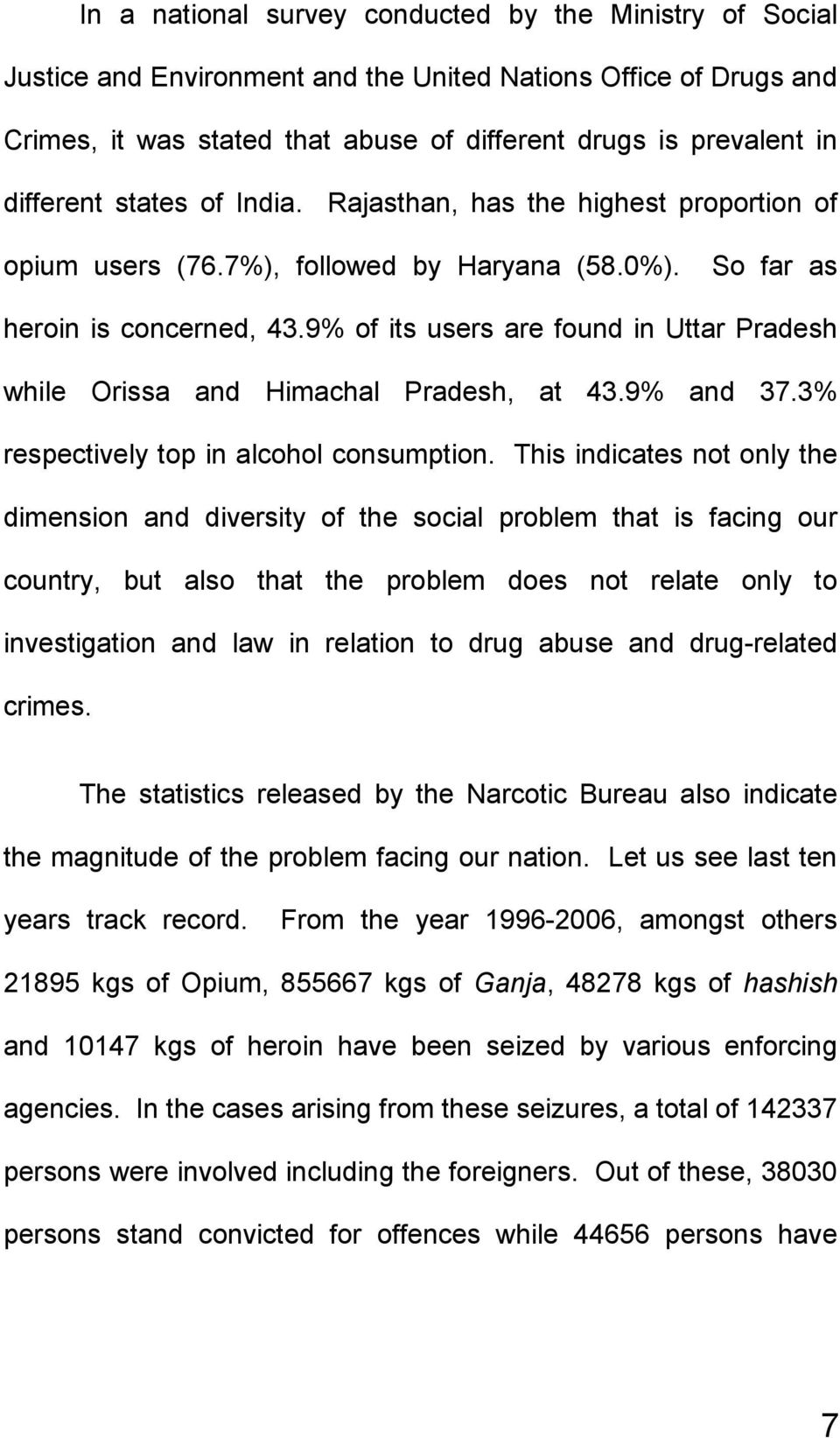9% of its users are found in Uttar Pradesh while Orissa and Himachal Pradesh, at 43.9% and 37.3% respectively top in alcohol consumption.