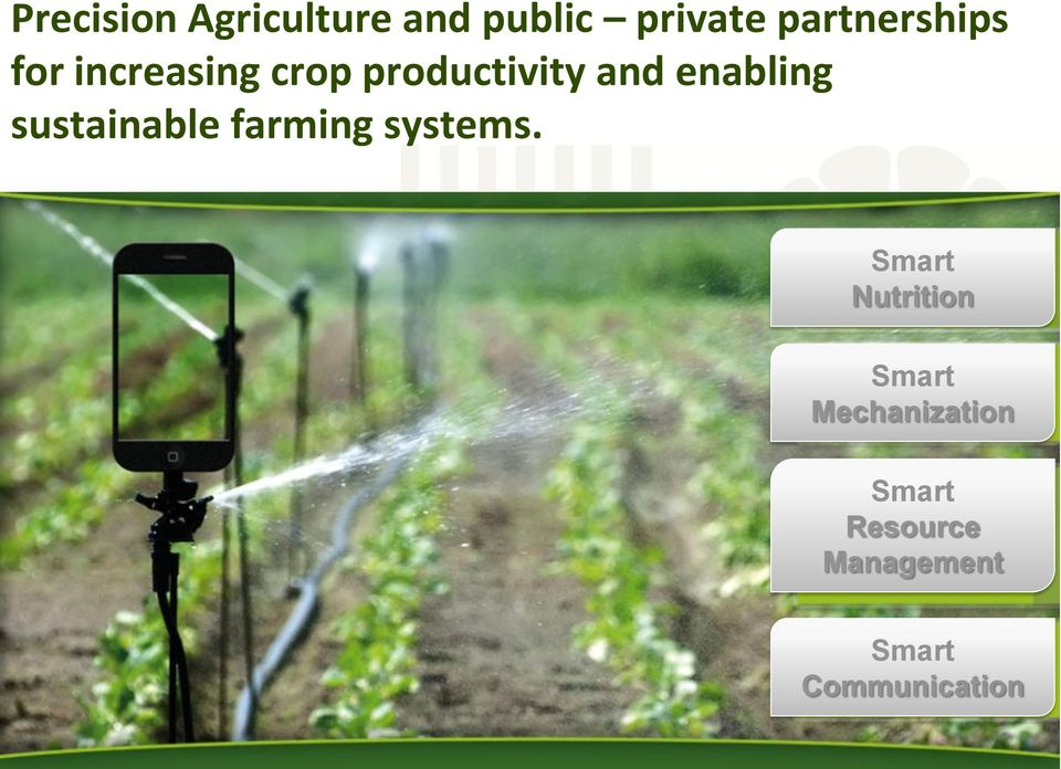 enabling sustainable farming systems.