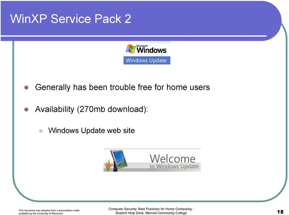 (270mb download): Windows Update web site
