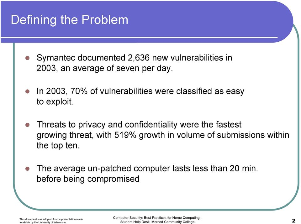 Threats to privacy and confidentiality were the fastest growing threat, with 519% growth in volume of