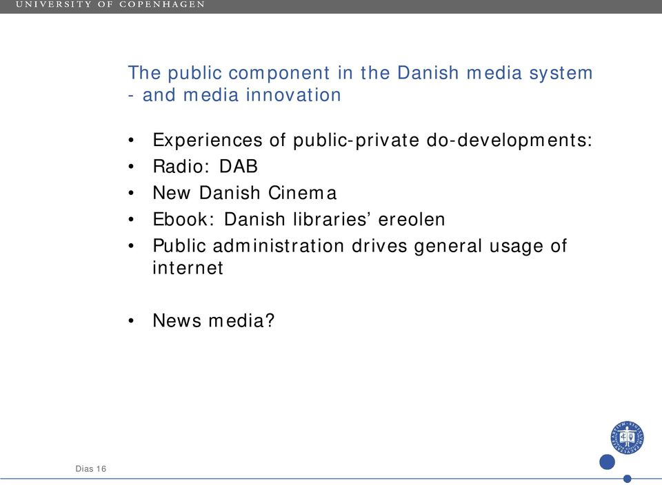 Radio: DAB New Danish Cinema Ebook: Danish libraries ereolen