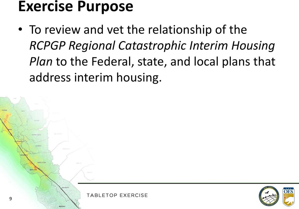 Catastrophic Interim Housing Plan to the