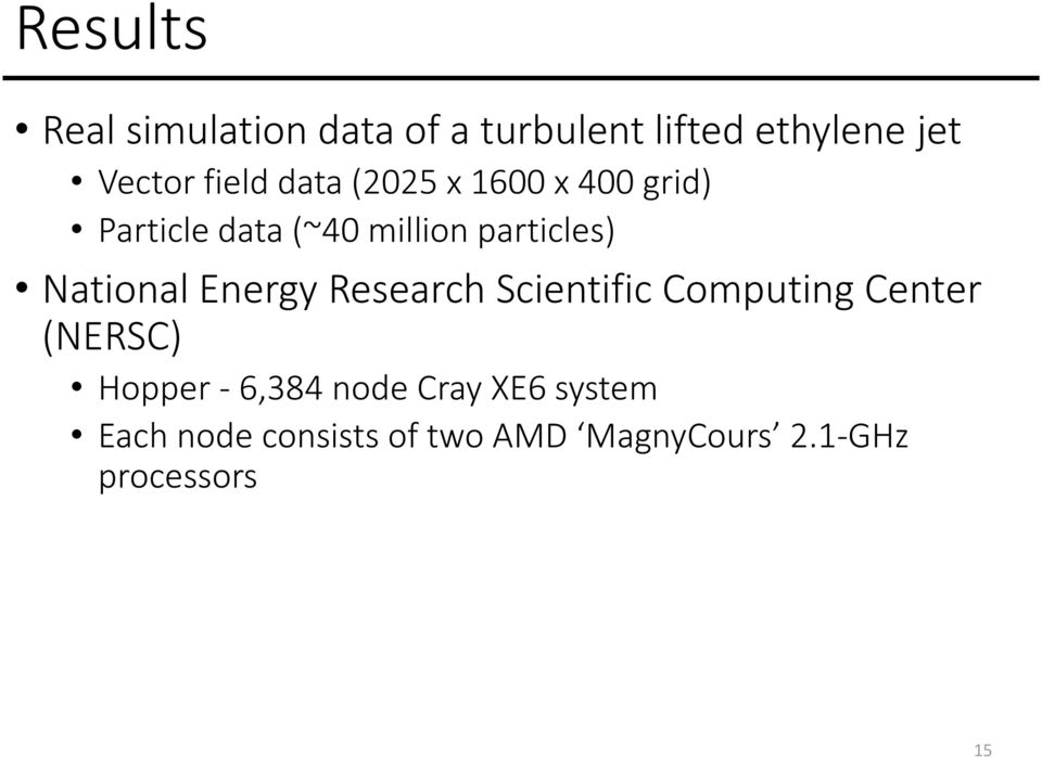 National Energy Research Scientific Computing Center (NERSC) Hopper - 6,384