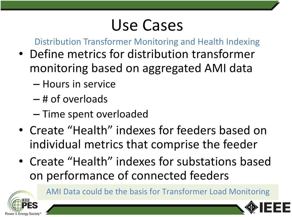 Create Health indexes for feeders based on individual metrics that comprise the feeder Create Health