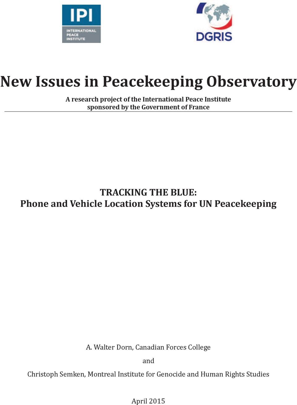 Vehicle Location Systems for UN Peacekeeping A.
