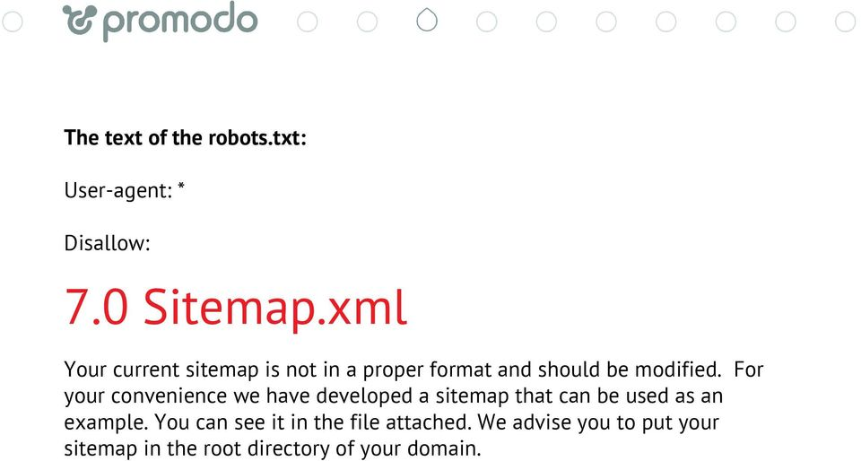 For your convenience we have developed a sitemap that can be used as an example.
