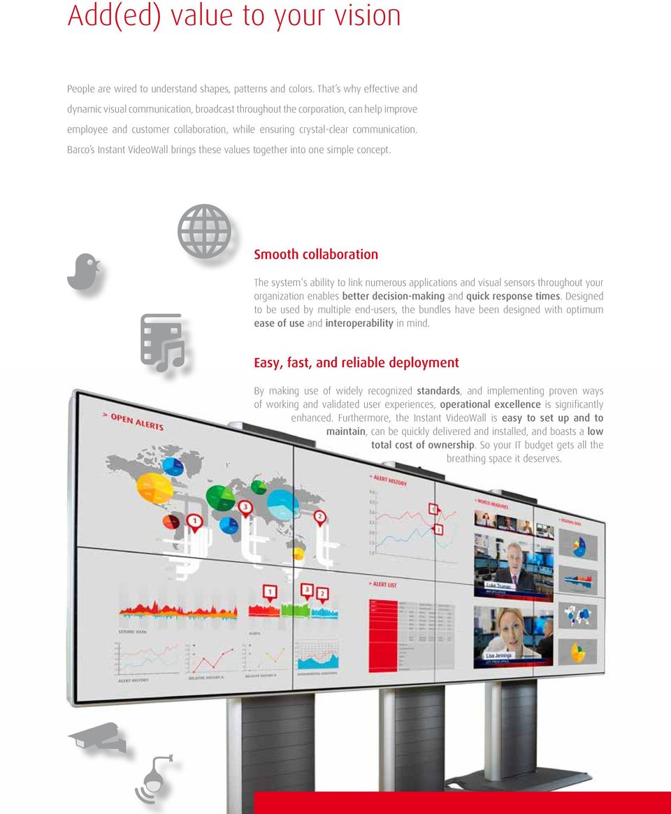 Barco s Instant VideoWall brings these values together into one simple concept.