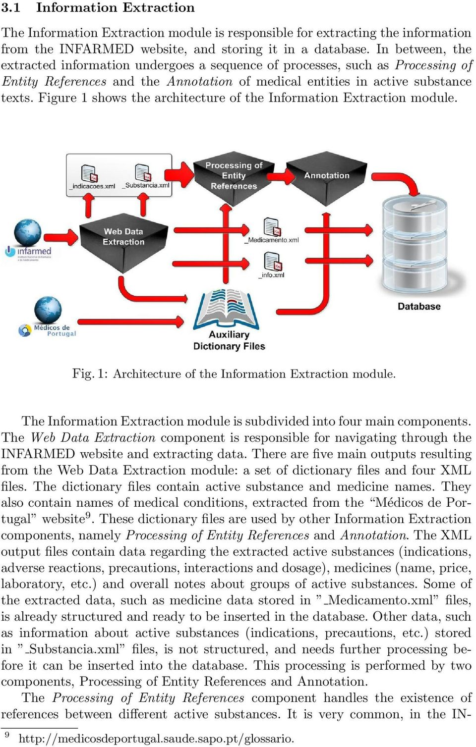 Figure 1 shows the architecture of the Information Extraction module. Fig. 1: Architecture of the Information Extraction module.