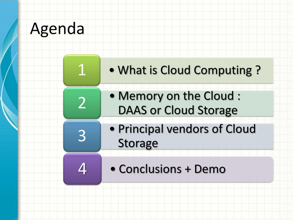 Memory on the Cloud : DAAS or
