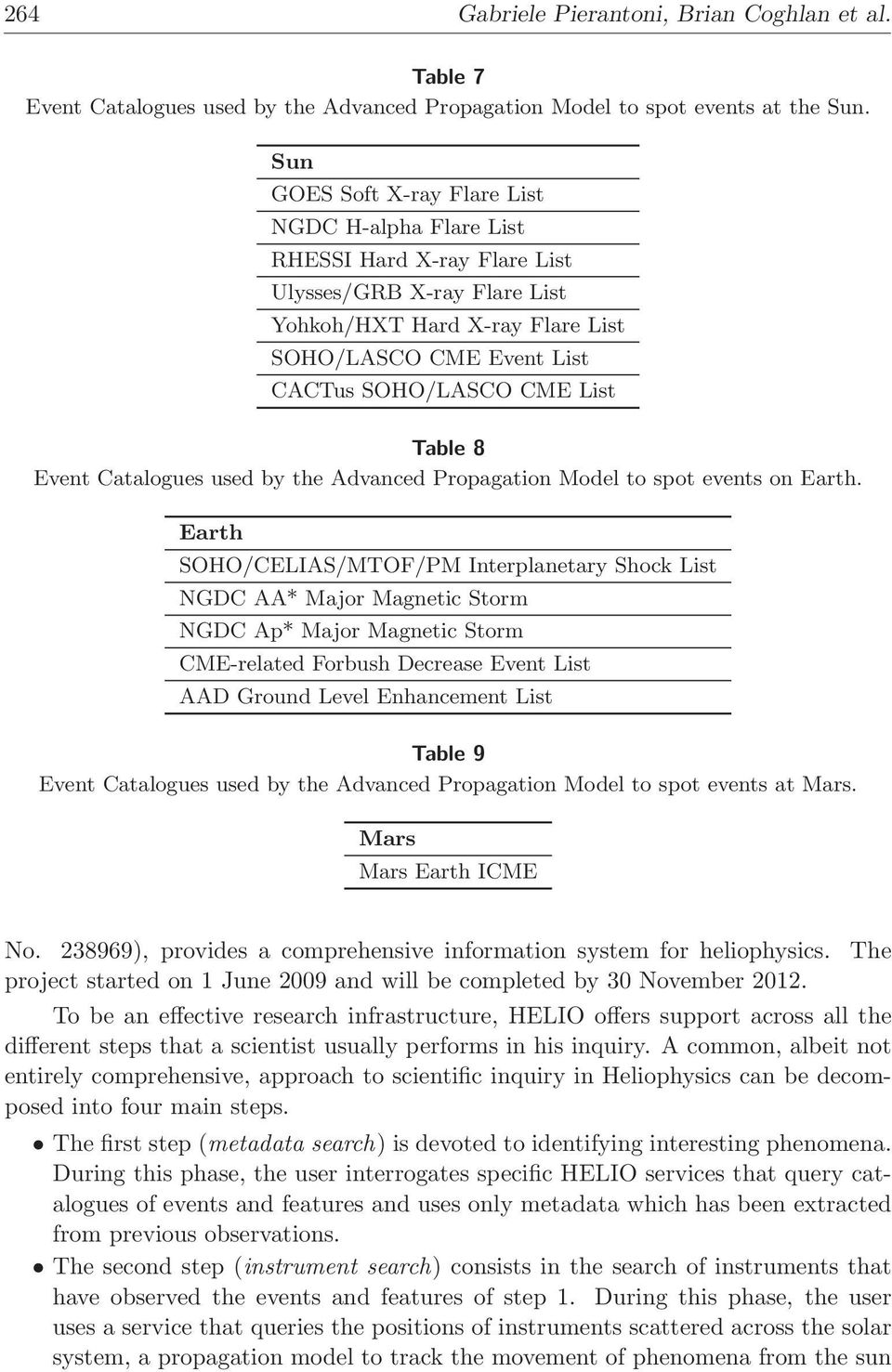 Table 8 Event Catalogues used by the Advanced Propagation Model to spot events on Earth.