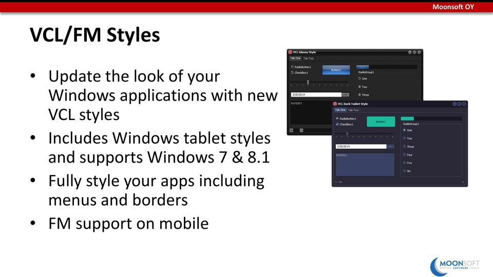 Windows tablet styles and supports Windows 7 & 8.