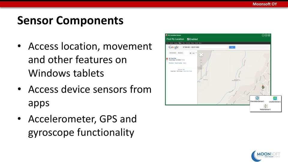 Windows tablets Access device sensors from