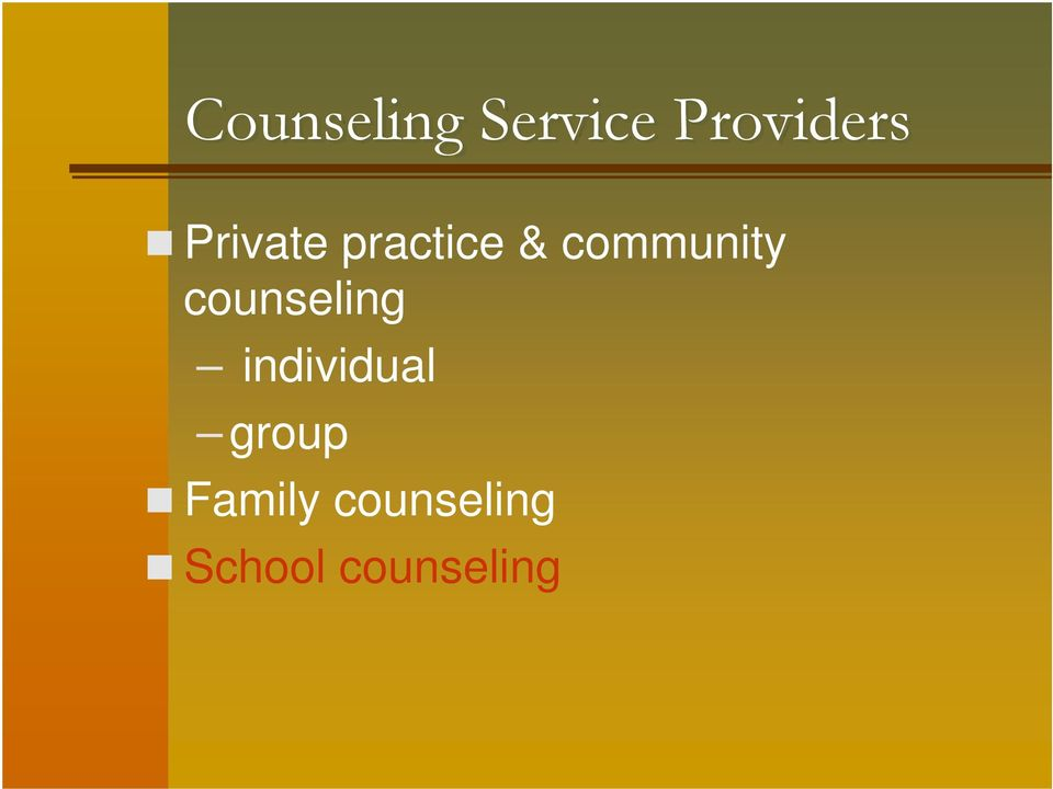 counseling individual group