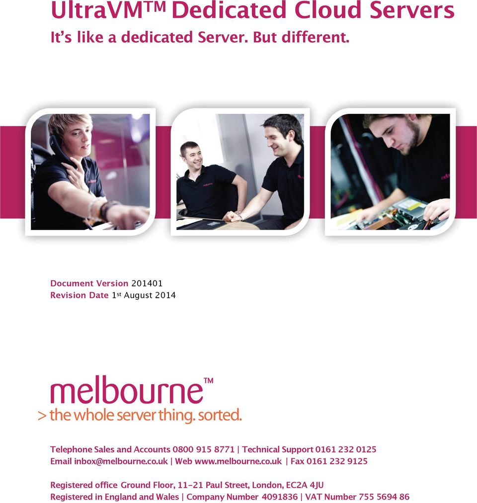 Technical Support 0161 232 0125 Email inbox@melbourne.co.