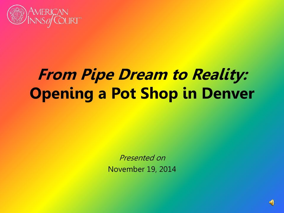 Pot Shop in Denver