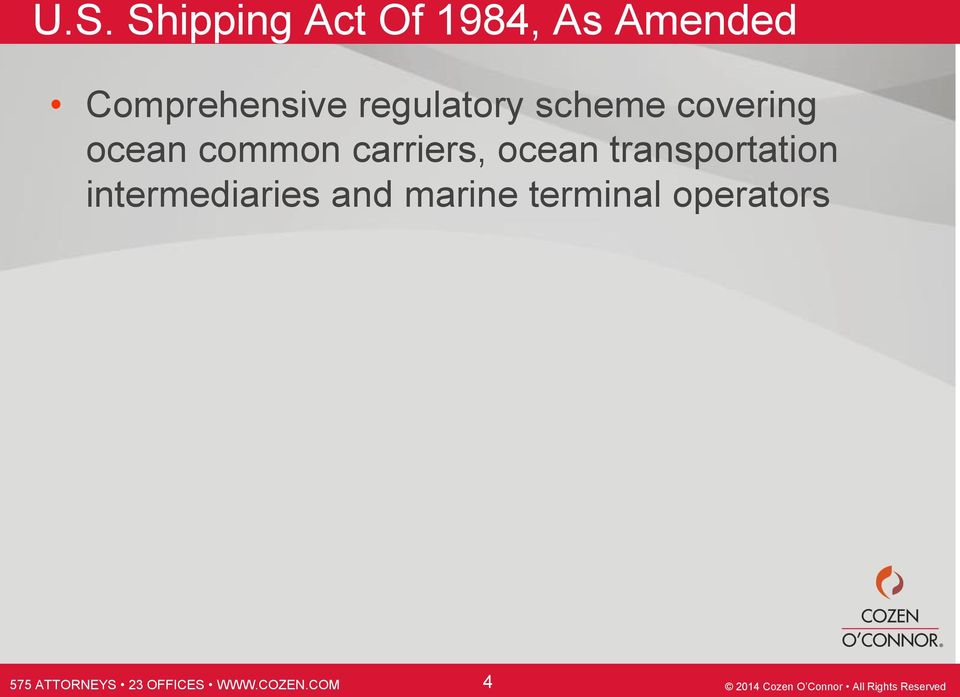 ocean common carriers, ocean