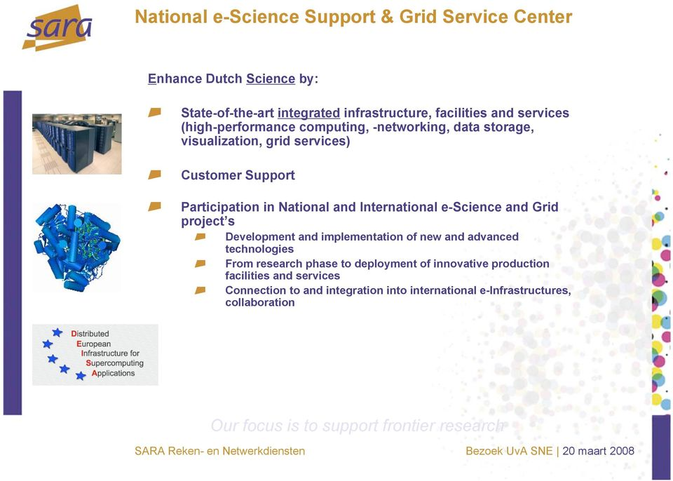 e-science and Grid project s Development and implementation of new and advanced technologies From research phase to deployment of innovative