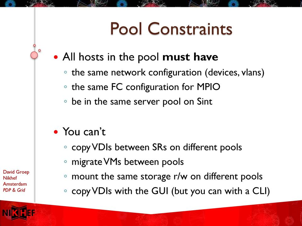 Sint You can t copy VDIs between SRs on different pools migrate VMs between pools