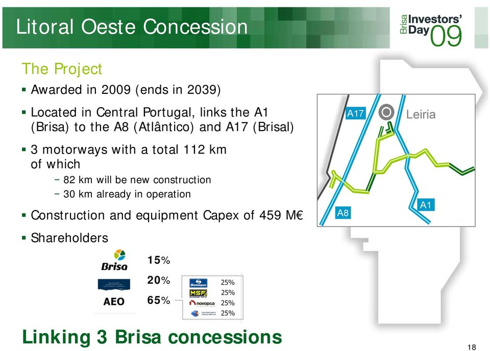 total 112 km of which 82 km will be new construction 30 km already in operation Construction