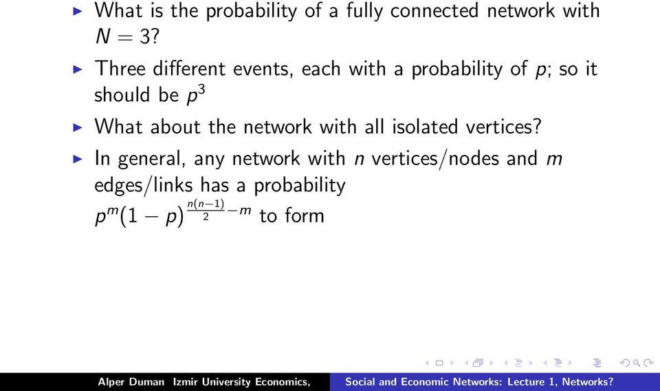 What about the network with all isolated vertices?