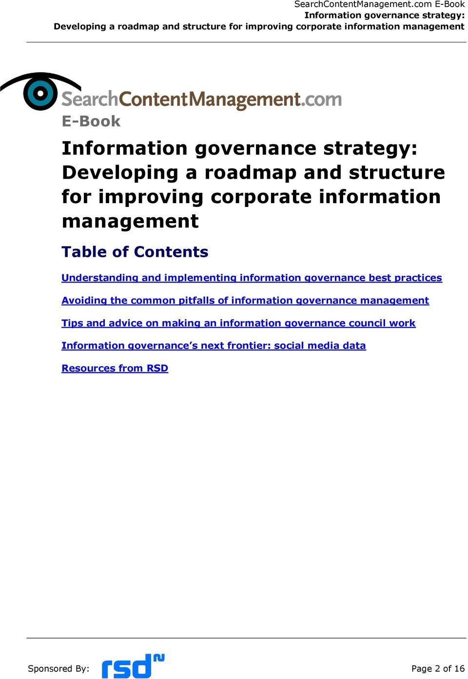 pitfalls of information governance management Tips and advice on making an information governance