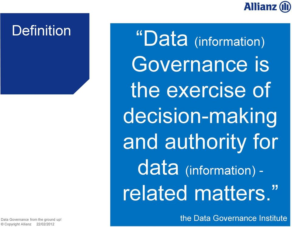authority for data (information) -