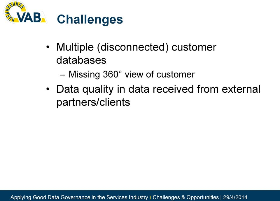 of customer Data quality in data