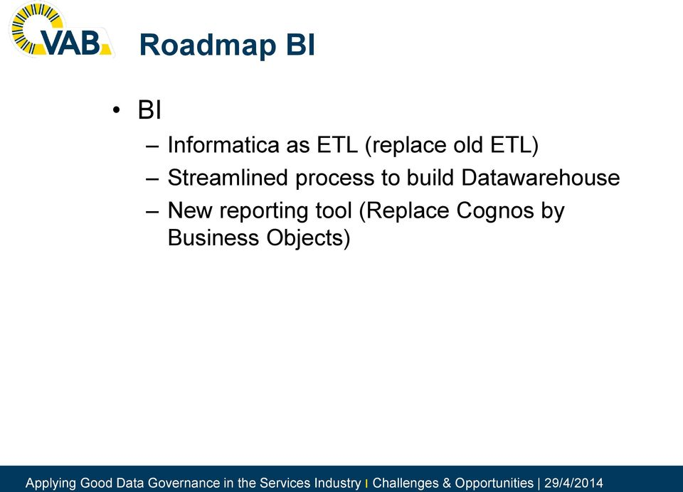 to build Datawarehouse New reporting