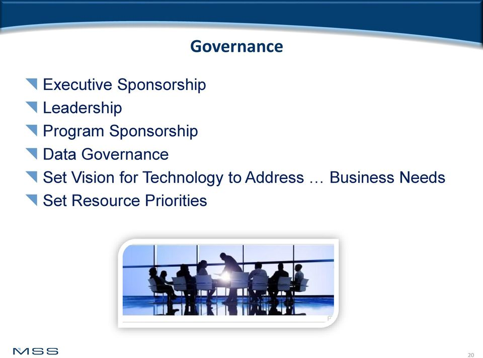 Governance Set Vision for Technology to