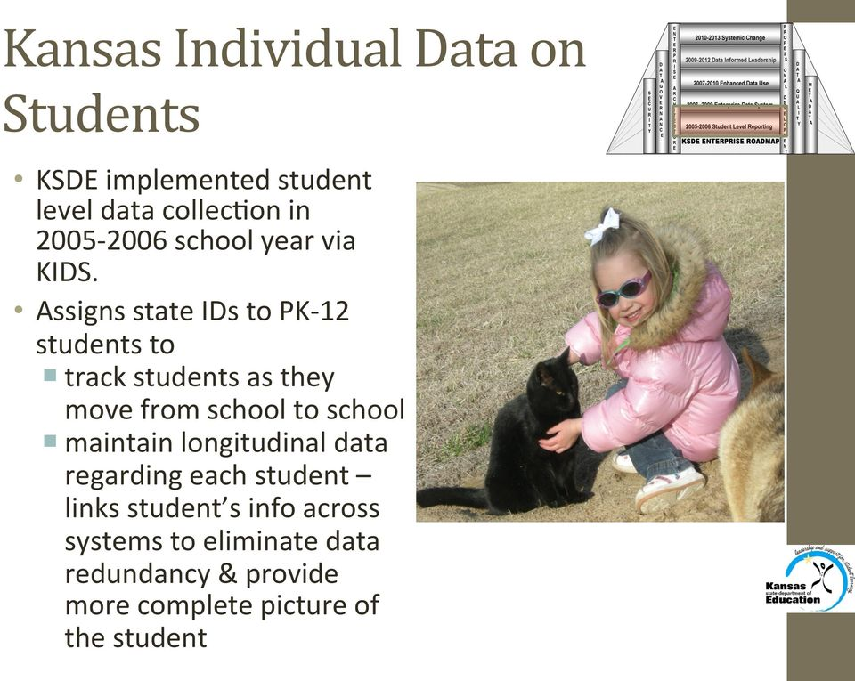 Assigns state IDs to PK- 12 students to track students as they move from school to school
