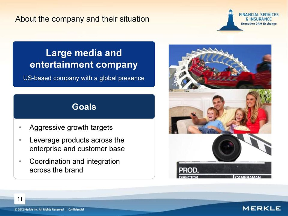 Goals Aggressive growth targets Leverage products across the
