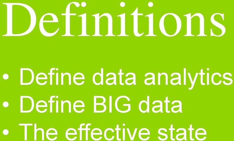 analytics Define