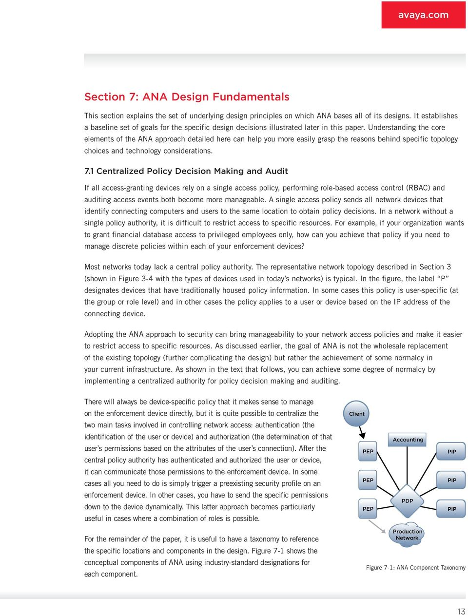 Understanding the core elements of the ANA approach detailed here can help you more easily grasp the rea sons behind specific topology choices and technology considerations. 7.