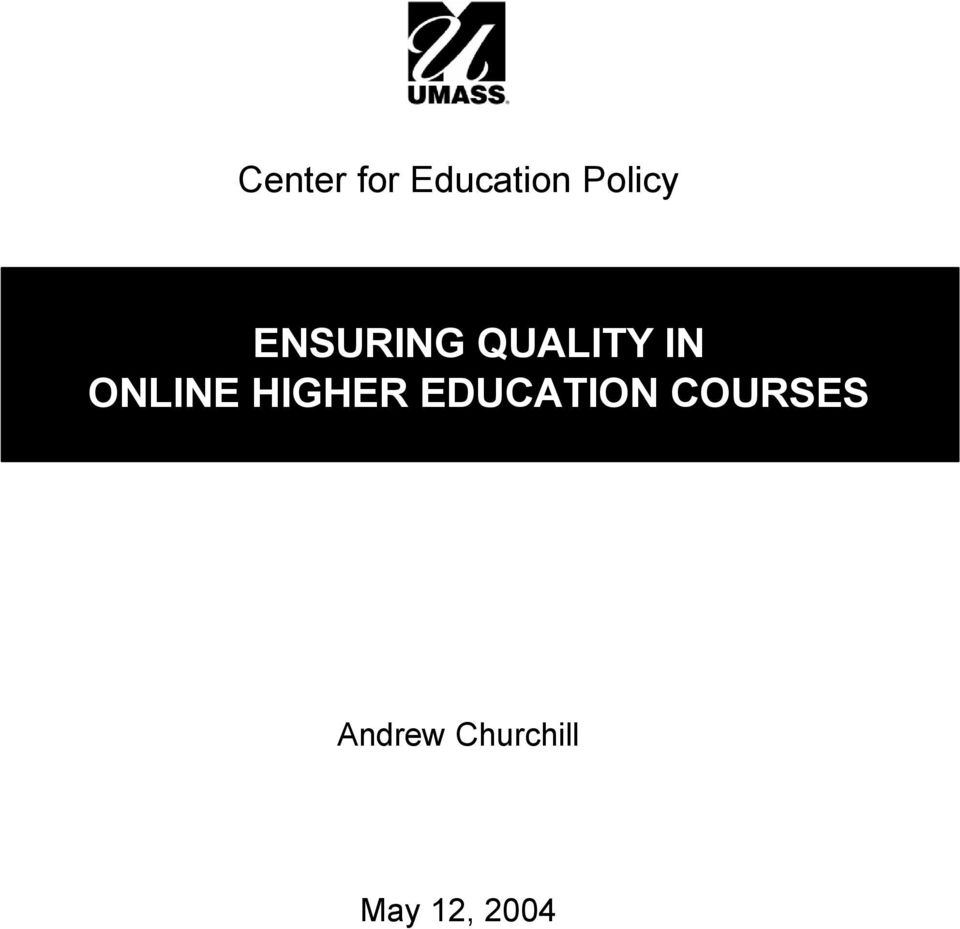 HIGHER EDUCATION COURSES