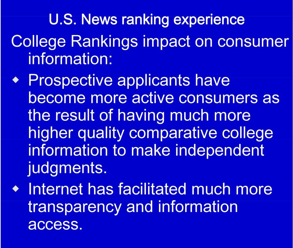 much more higher quality comparative college information to make independent