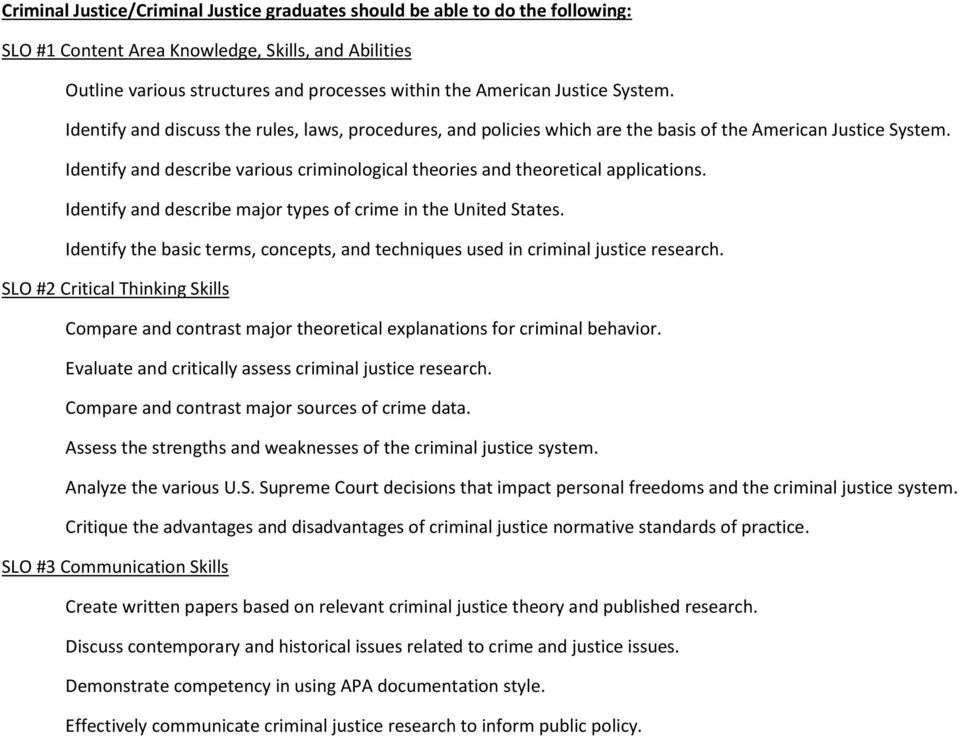 dentify and describe various criminological theories and theoretical applications. dentify and describe major types of crime in the United States.