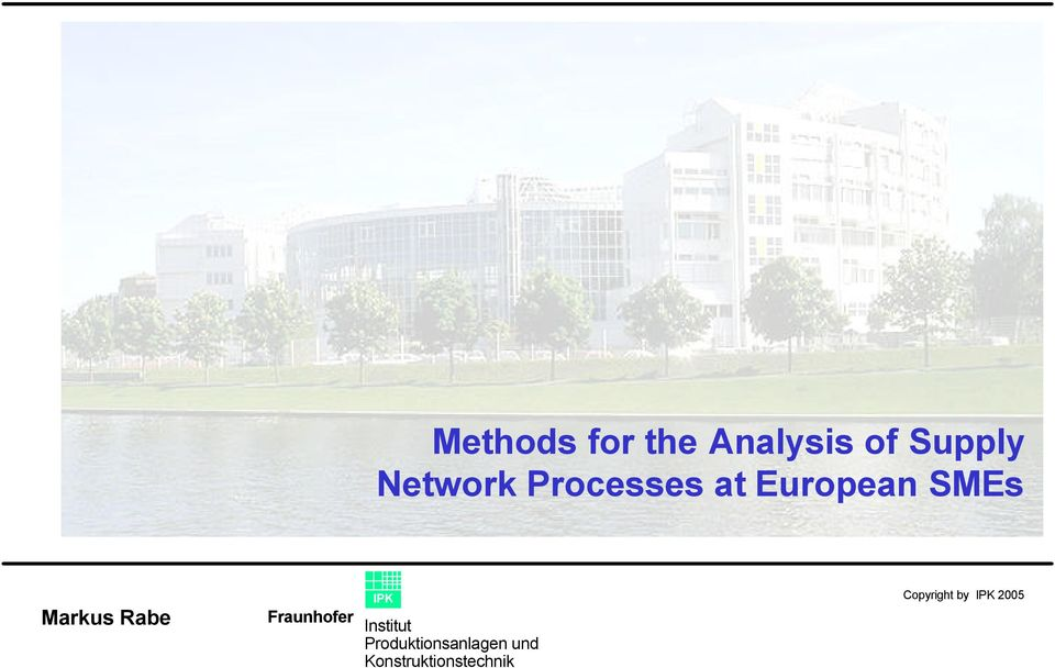 Network Processes at