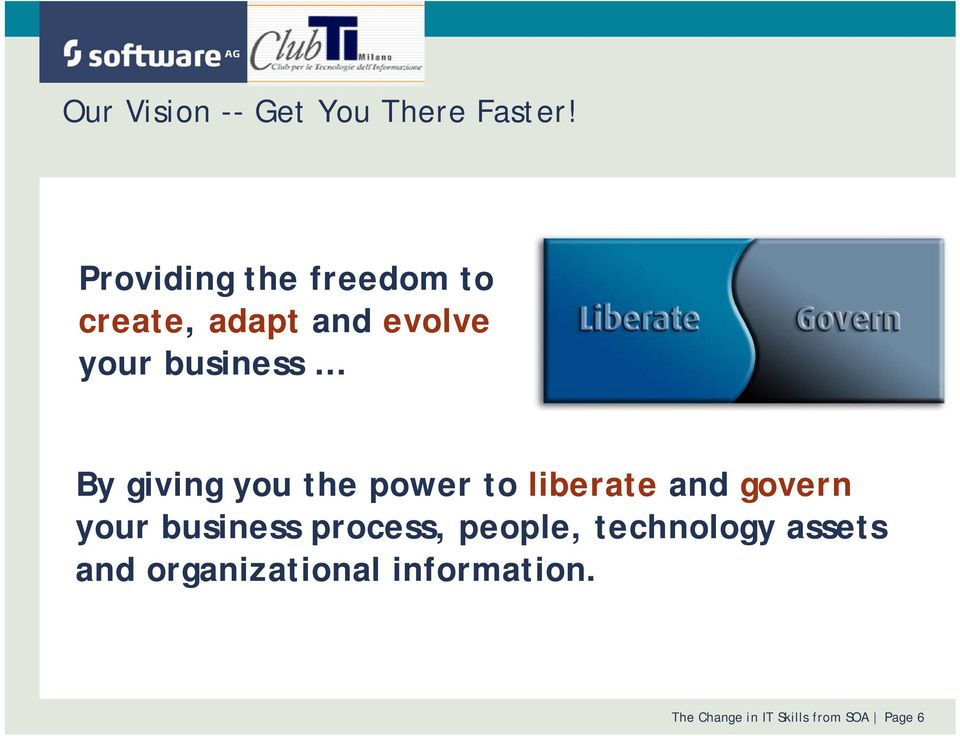giving you the power to liberate and govern your business process,