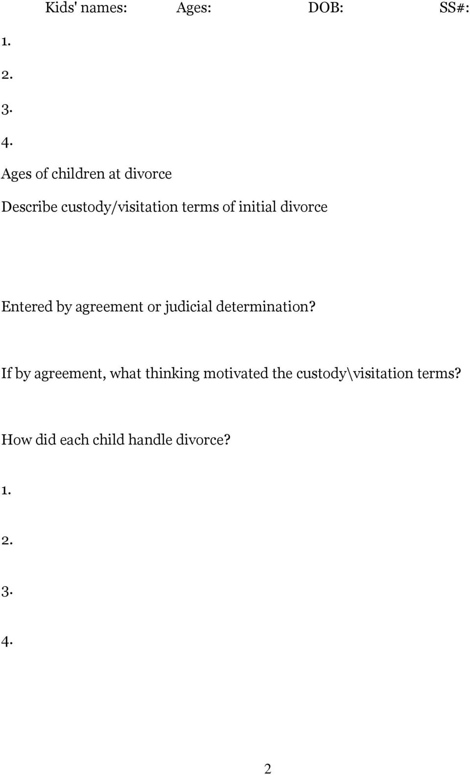 divorce Entered by agreement or judicial determination?