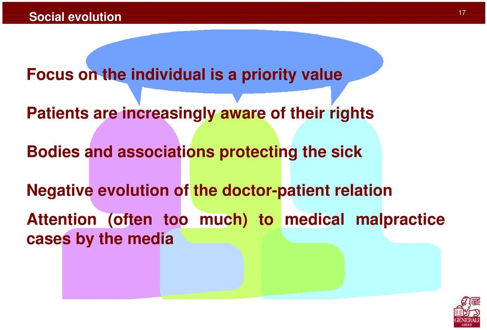 associations protecting the sick Negative evolution of the
