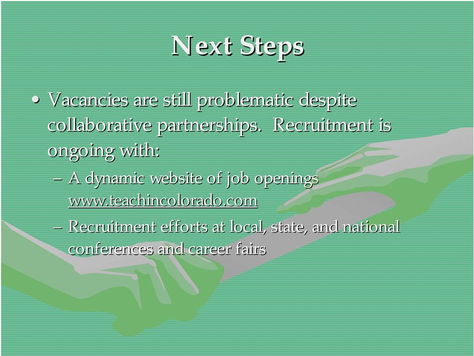Recruitment is ongoing with: A dynamic website of job