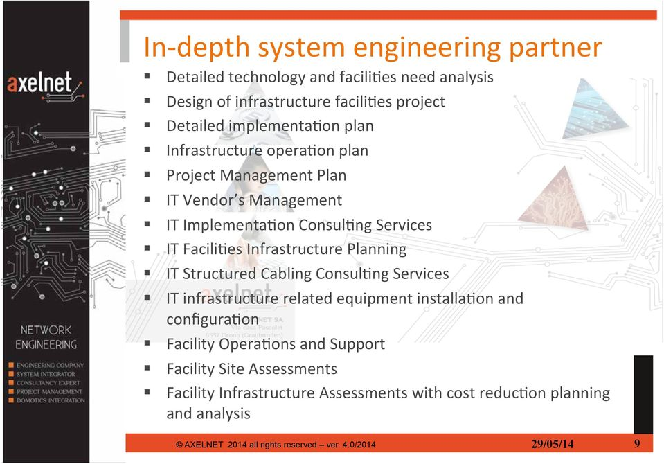 IT Implementa6on Consul6ng Services! IT Facili6es Infrastructure Planning! IT Structured Cabling Consul6ng Services!