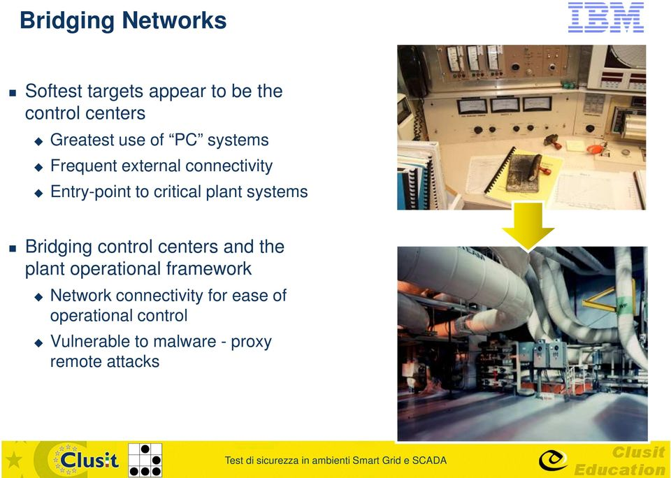 systems Bridging control centers and the plant operational framework Network