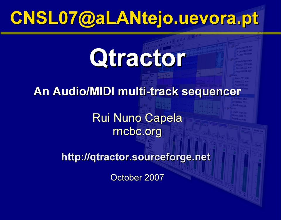 multi-track sequencer Rui Nuno