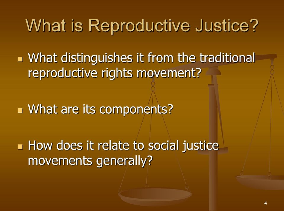 reproductive rights movement?