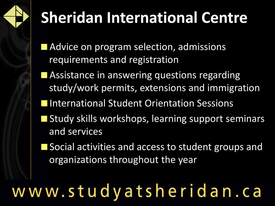 immigration International Student Orientation Sessions Study skills workshops, learning support