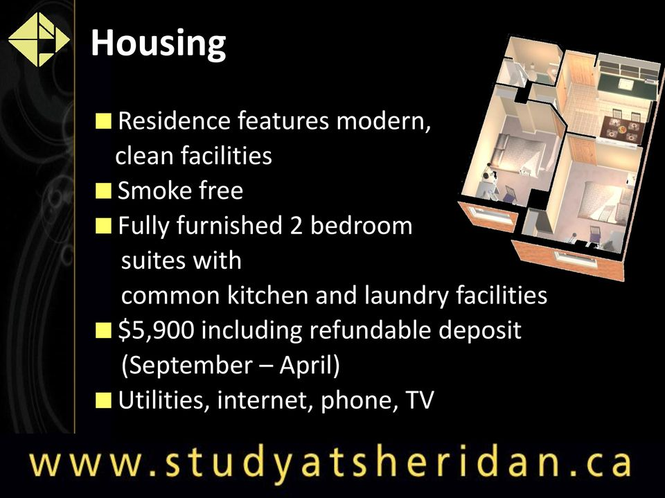 kitchen and laundry facilities $5,900 including